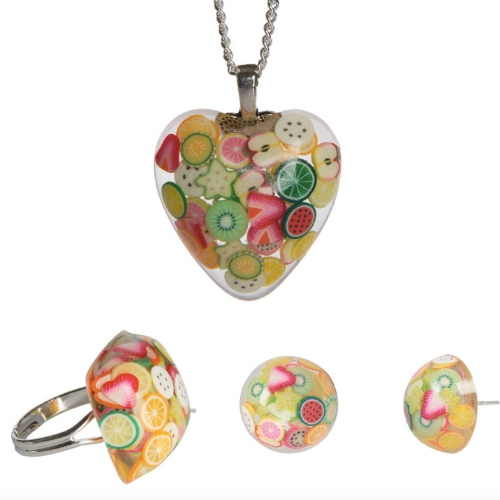 Image of Fruit Salad Resin Necklace/Ring/Earrings