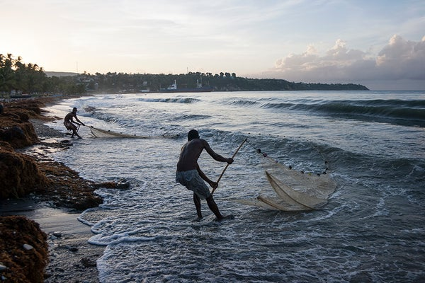 "Image of ""Fishermen in Jacmel"" Photo by Wilky Douze"