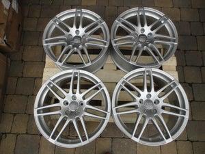 "Image of Genuine Audi A6 C6 Le Mans RS4 Twin Spoke 19"" 5x112 Alloy Wheels"