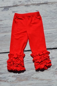 Image of Iced Ruffle Leggings in Five Fall Colors, Baby Toddler Girl Pants, Photos, Back to School