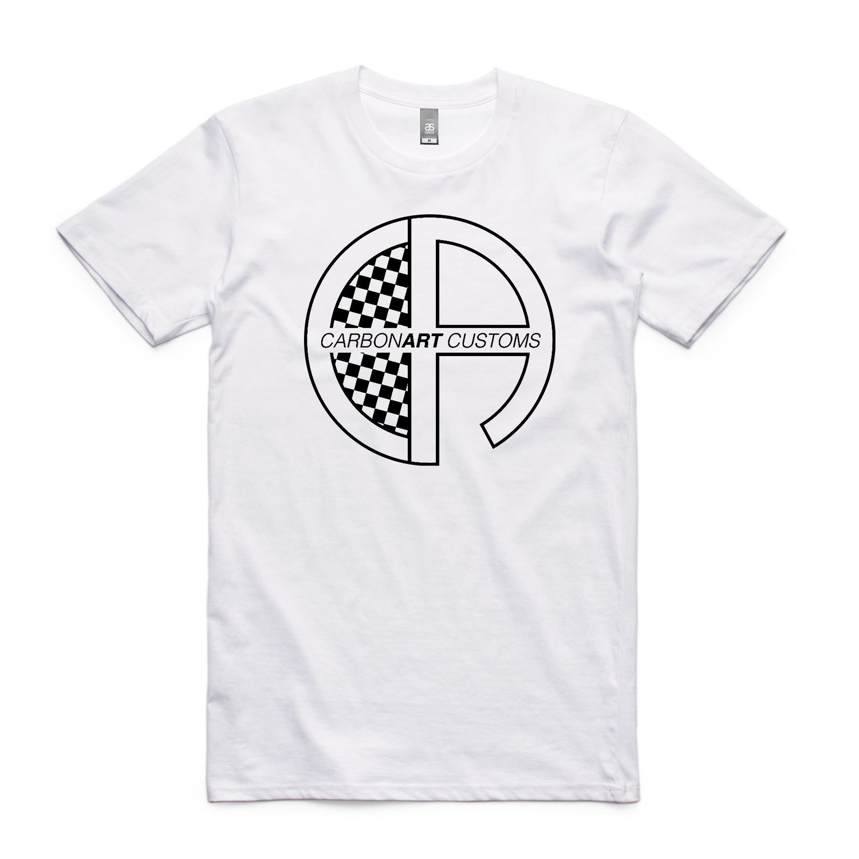Image of CarbonArt Logo Mens Tee - White