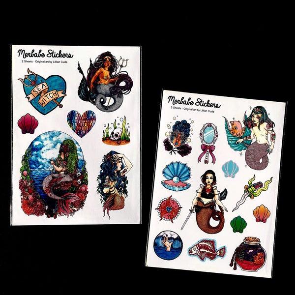 Image of Merbabe Sticker Set  Lillian Cuda 