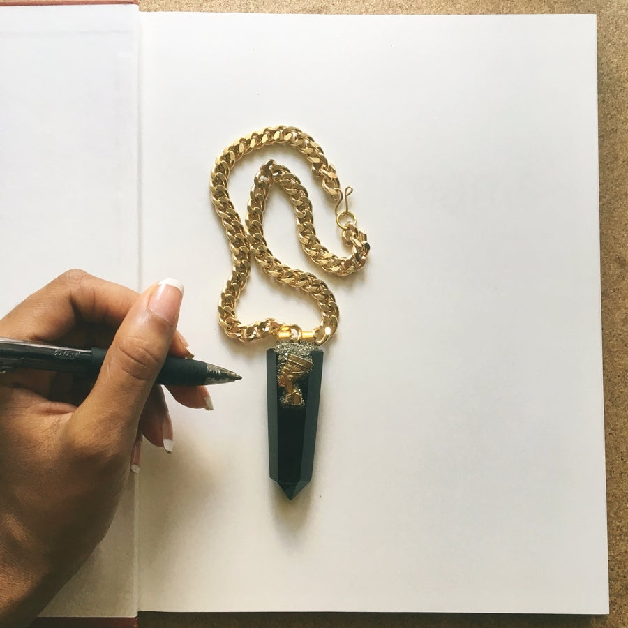 Image of BLACK GOLD Obsidian Necklace • #blackeducationmatters