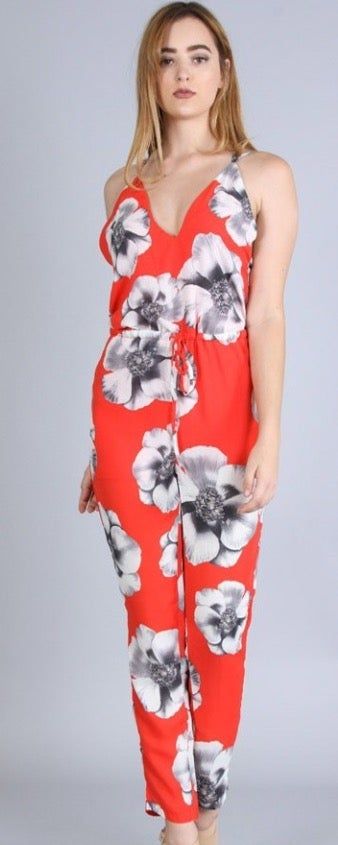 Image of Floral pant romper