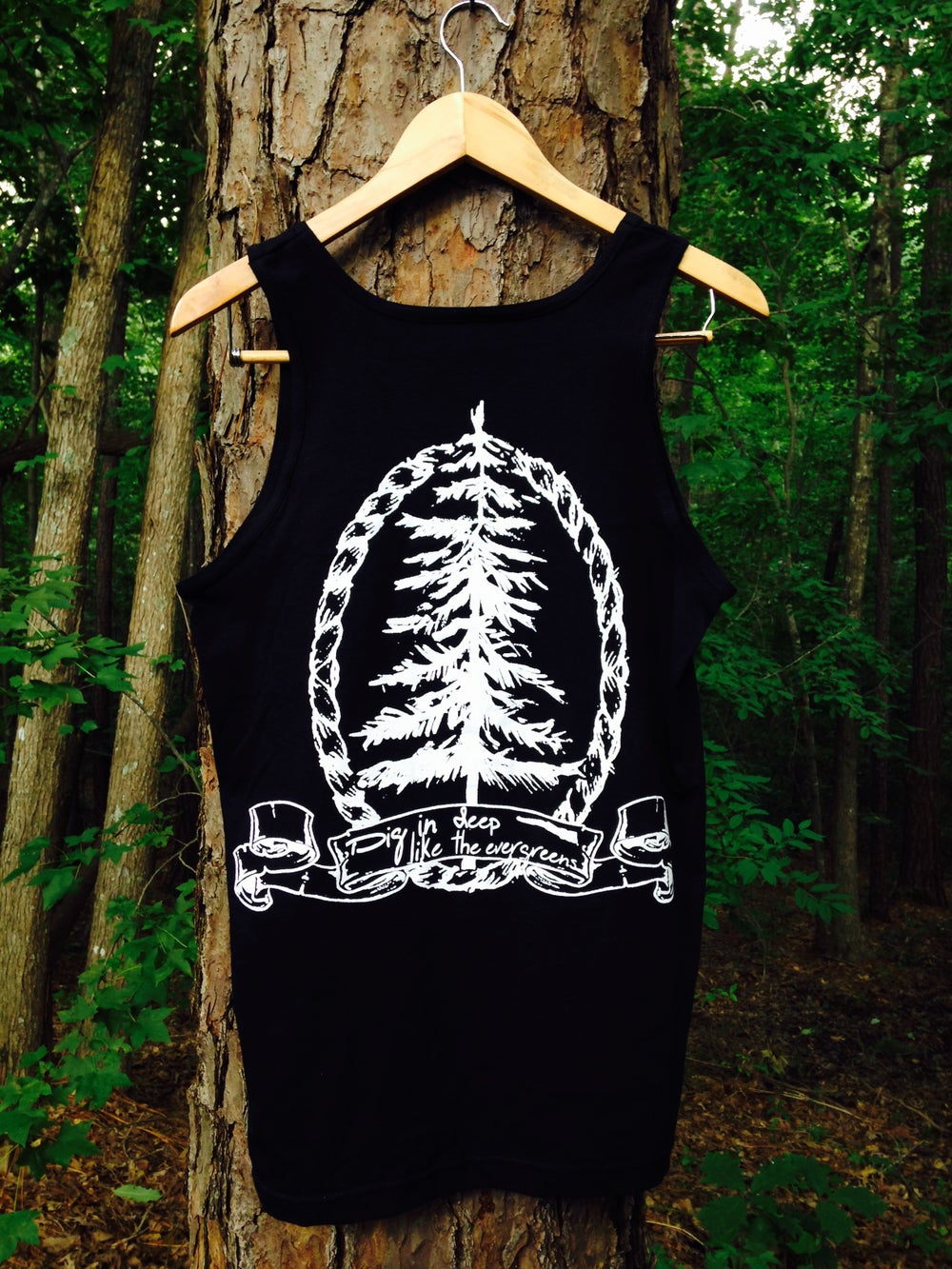 "Image of ""Evergreen"" Tank (Black)"