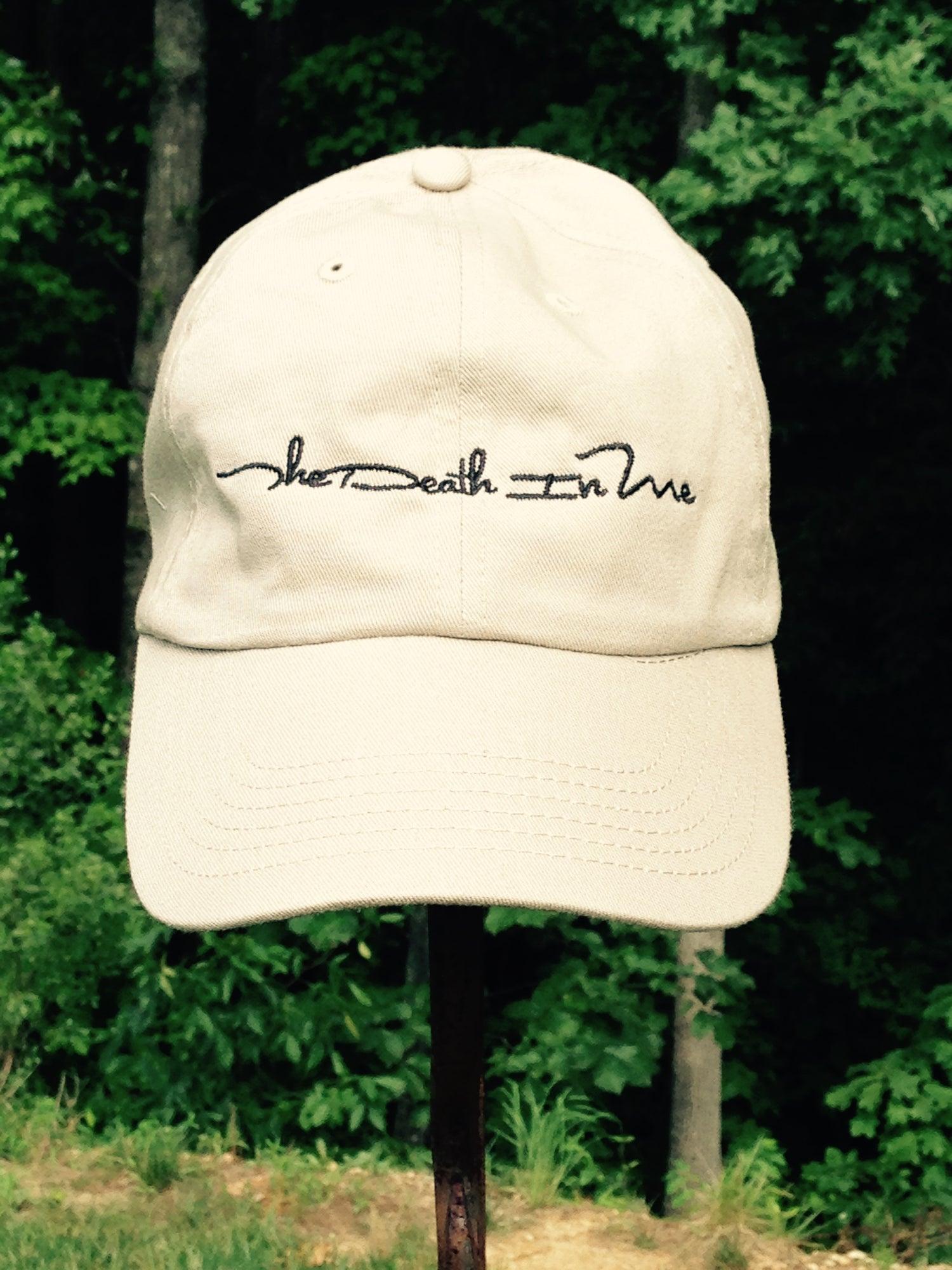 "Image of Scripted Logo ""Dad Hat"" (Tan)"