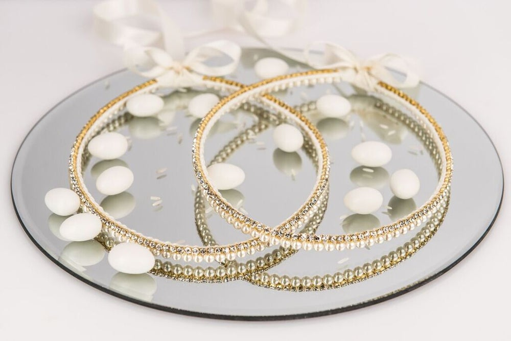 Image of Pearl and Gold Diamanté Stefana
