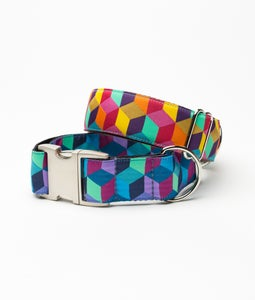 Image of Blocks - Dog Collar in the category  on Uncommon Paws.