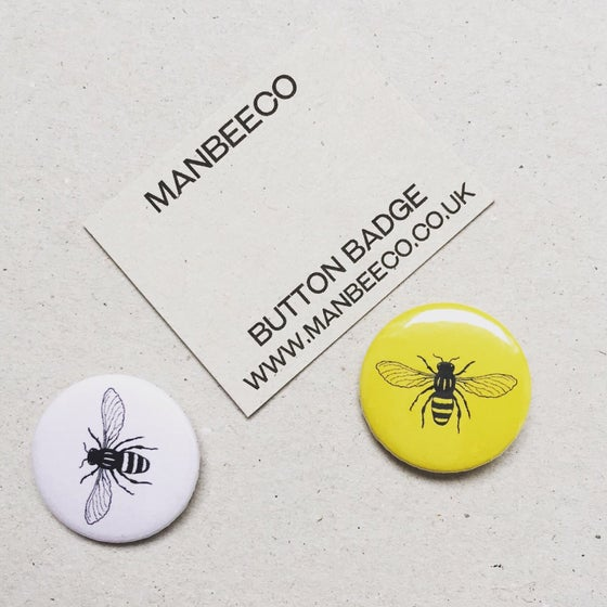 Image of Manchester Worker Bee Button Badge