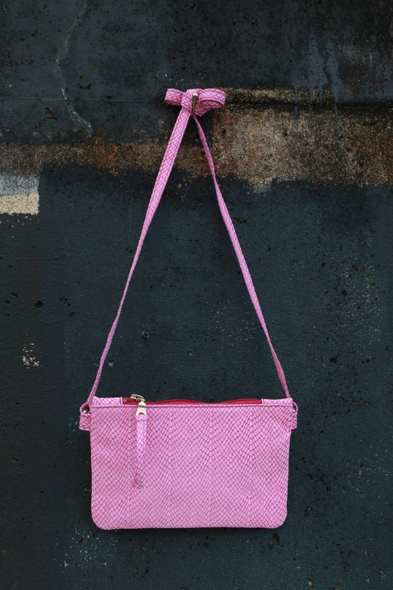 Image of Mini Chelsea Crossbody - fuchsia print