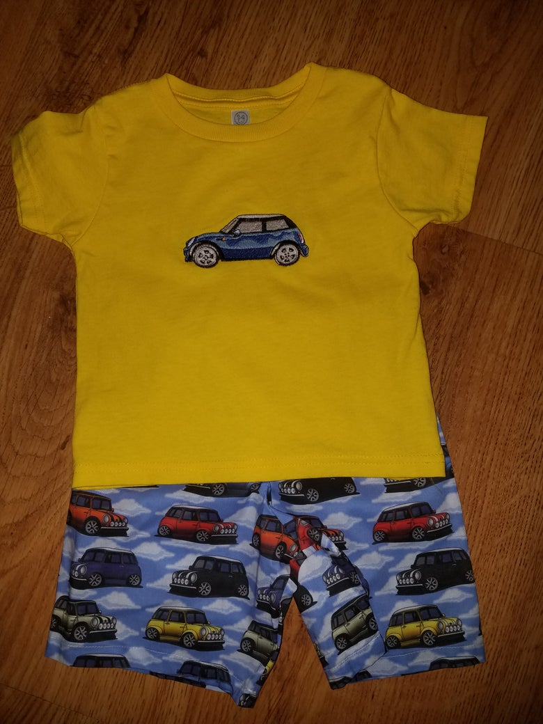 Image of Sunny MINI Car short set