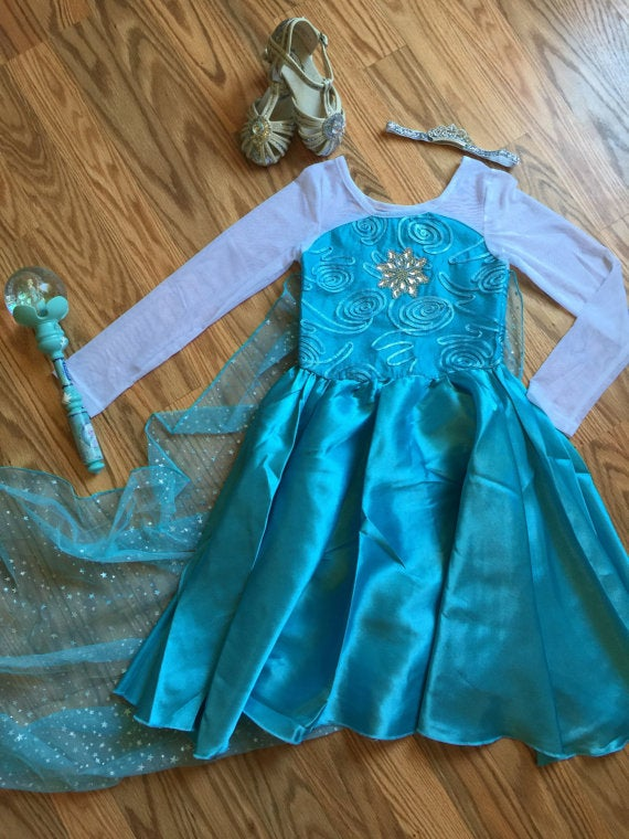 Image of Frozen Elsa Inspired Princess Halloween Costume, Frozen Costume, Ready to Ship