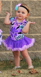 Image of Ava Floral Lavender Ruffled Tutu Onesie, Spring & Summer, Baby Girl/Toddler Summer, Photos