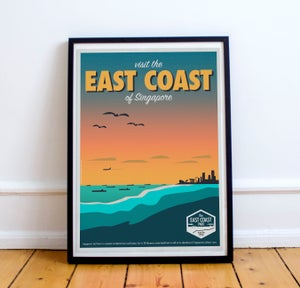 Image of East Coast Vintage-Style Travel Poster