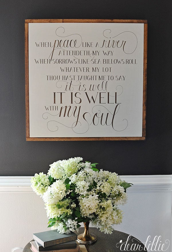 Image of It Is Well Handmade Oversized Wood Sign