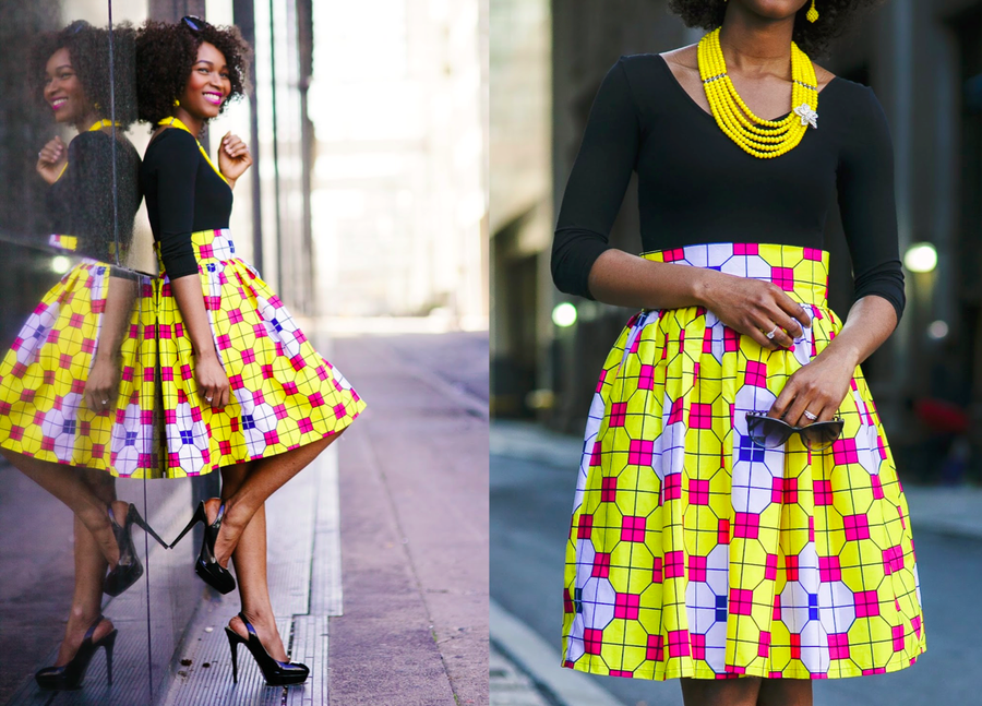 "Image of The ""CHECKMATE"" Full Skirt"
