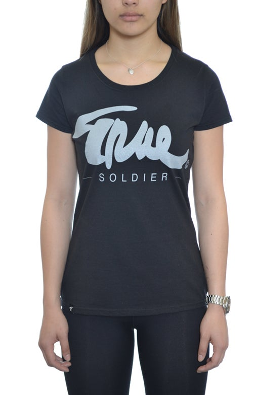 Image of OG Tshirt Black - Grey  Women