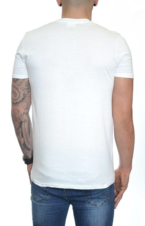 Image of Bristol T-shirt White - Blue