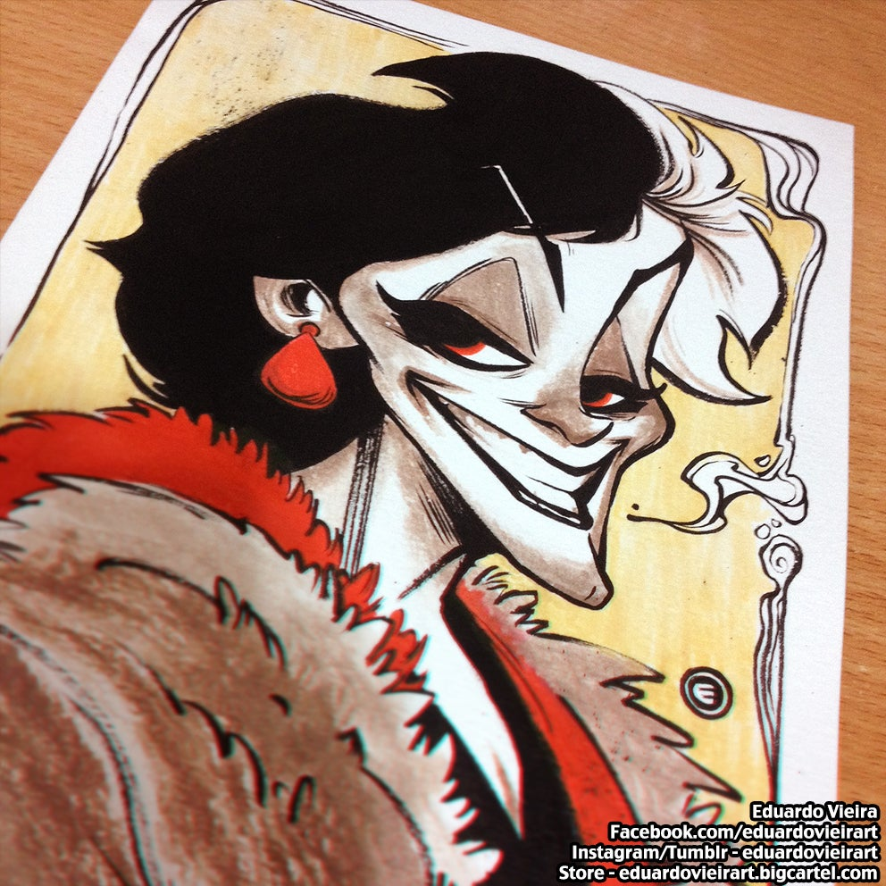 "Image of ORIGINAL ART - Cruella (9"" x 6"")"