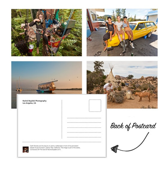 Image of 61 Days Off the Grid Set of 4 Postcards