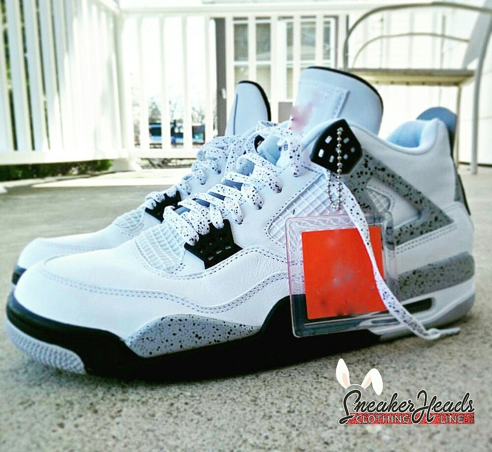 """Image of Exclusive """"White Cement"""" LE Custom Laces"""