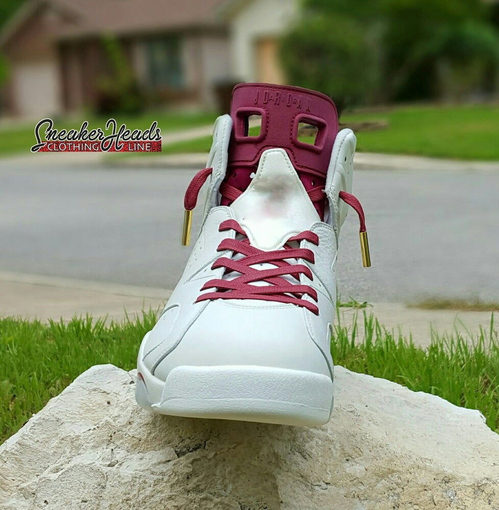 """Image of Exclusive """"Wax"""" Custom Shoelaces (Gold Lacetips)"""