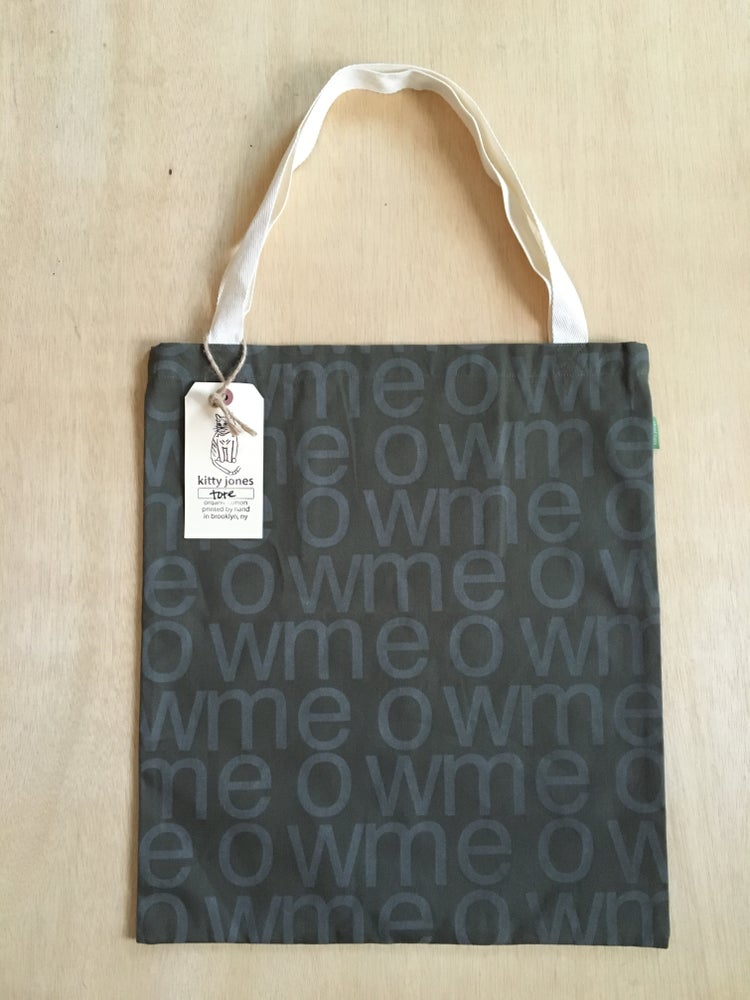 Image of meow tote (olive)