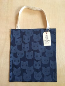 Image of catface tote (navy)