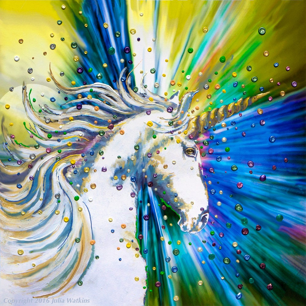 Image of Unicorn Magic Energy Painting - Giclee Print