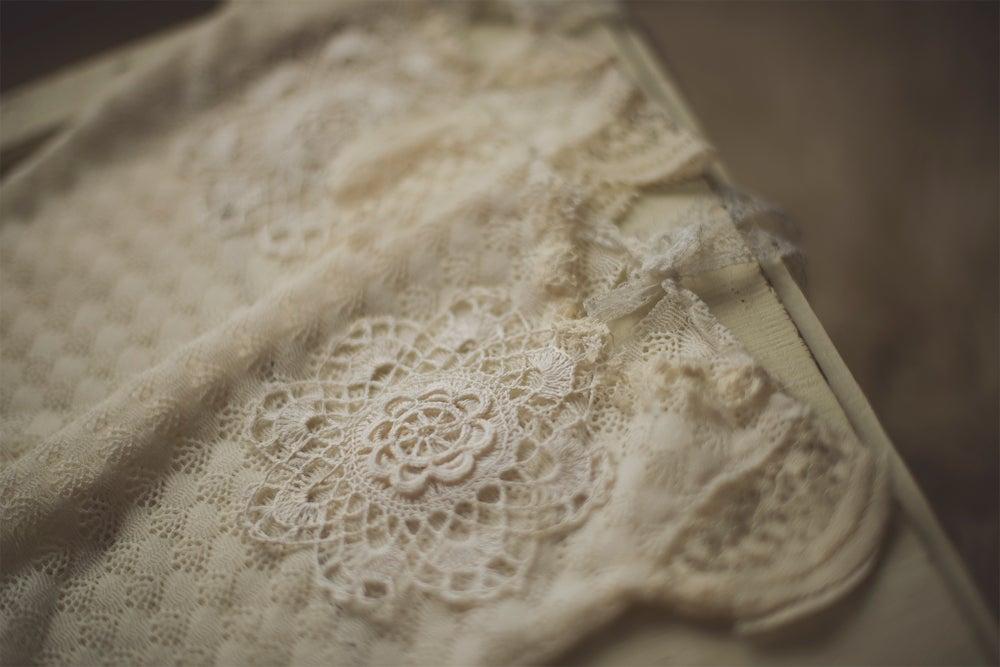 Image of Newborn Lace Embellished Romper