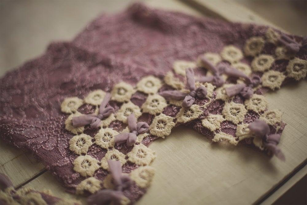 Image of Lilac Bonnet & Romper Set
