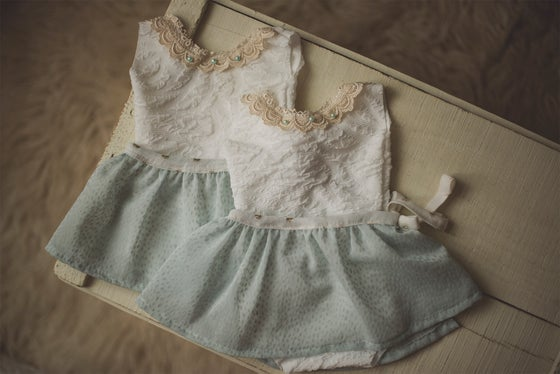 Image of Romper & Removable Seafoam Skirt Set
