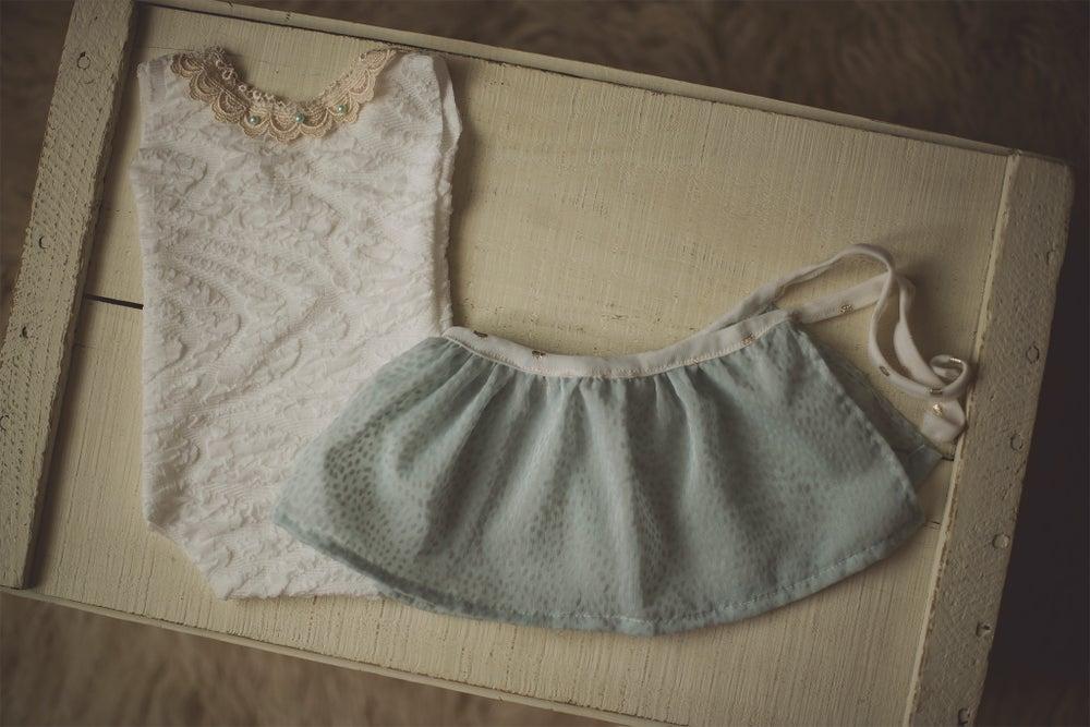 Image of Romper & Removable Seafoam Skirt Set