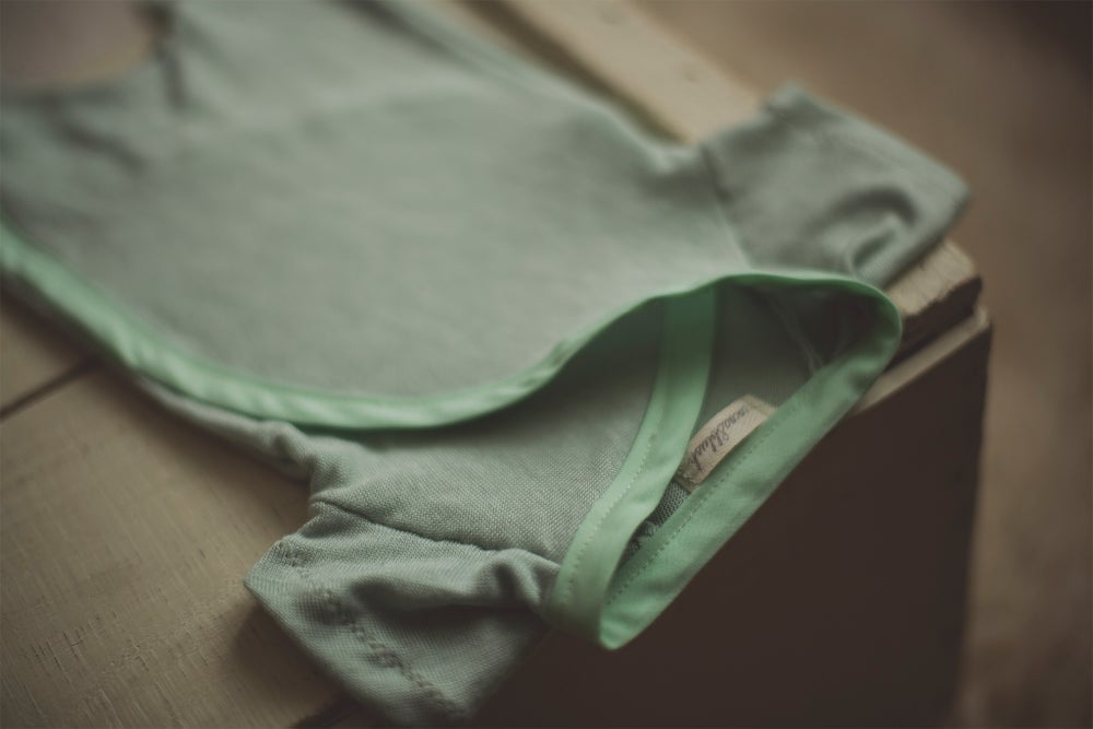 Image of Mint Snap & Tie Sleeper