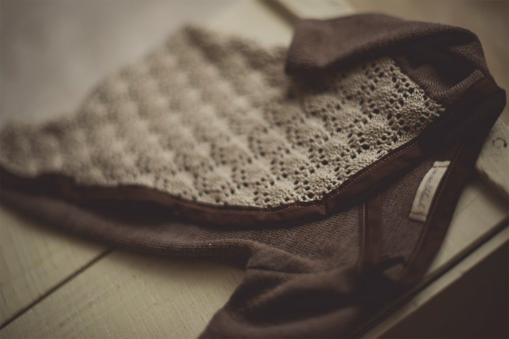 Image of Brown Knit Sleeper