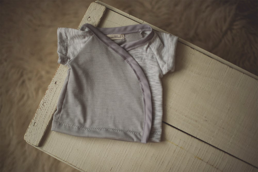 Image of Newborn Snap & Tie T-Shirt