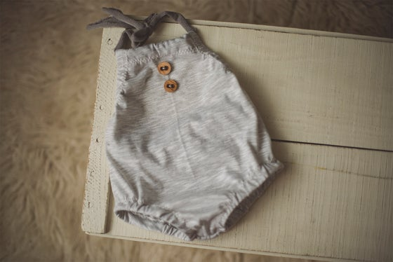 Image of Grey Bubble Romper - Sitter