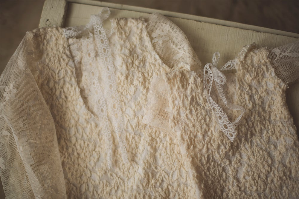 Image of Lace Long Sleeved Romper