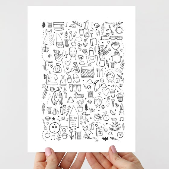 Image of Bits & Pieces Bespoke Illustration Reservation
