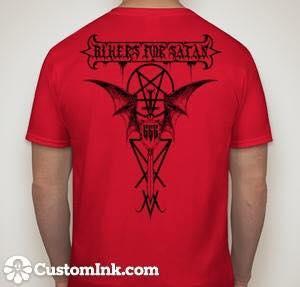 Image of Bikers For Satan T-shirt Black Logo