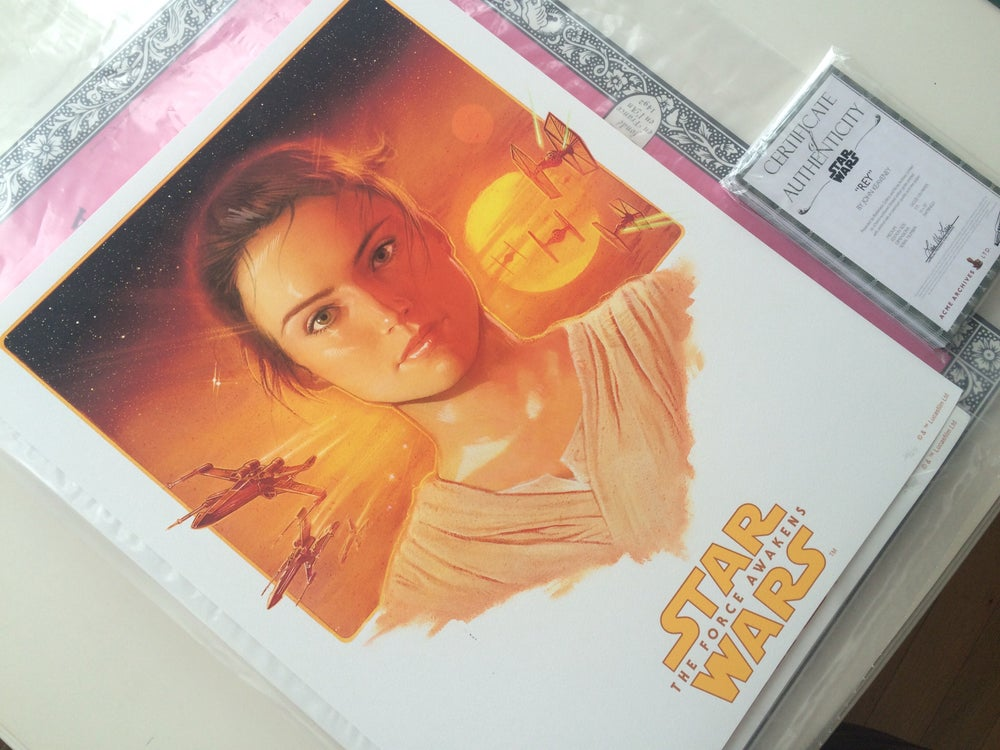 "Image of Star Wars The Force Awakens ""Rey"" AP prints"