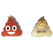 Image of 💩 Riot Style Poop Emoji Enamel Pin