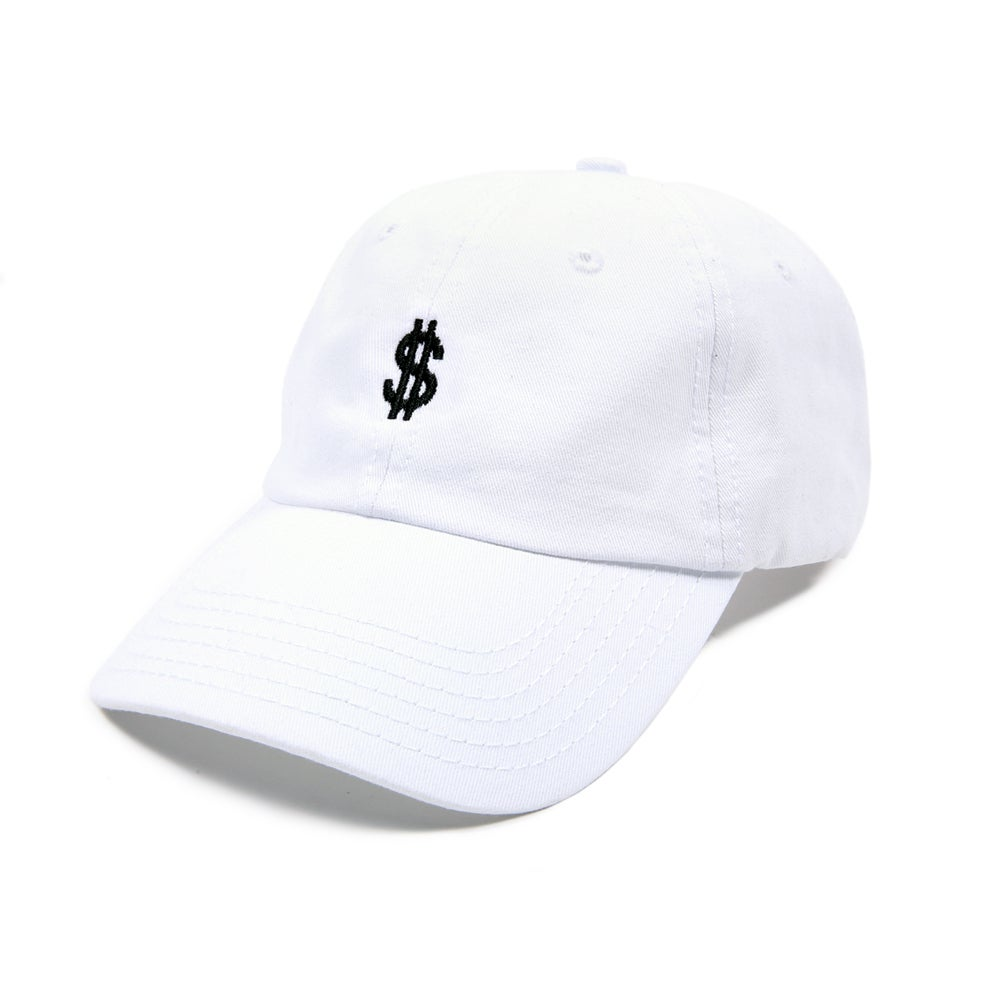 Image of  Money Low Profile Sports Cap - White