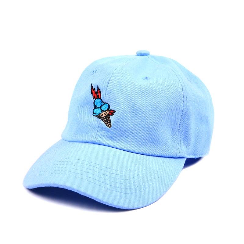 """Image of """"Brrr"""" Low Profile Sports Cap - Blue"""