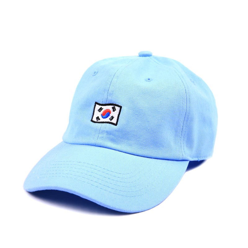 Image of Korea Low Profile Sports Cap - Blue
