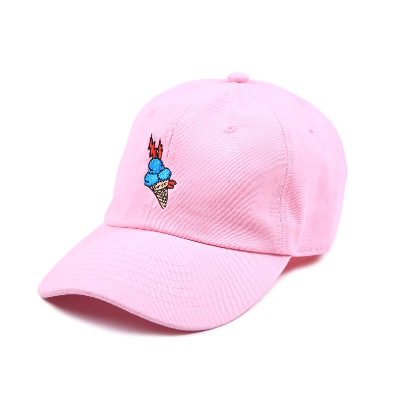 "Image of ""Brrr"" Low Profile Sports Cap - Pink"