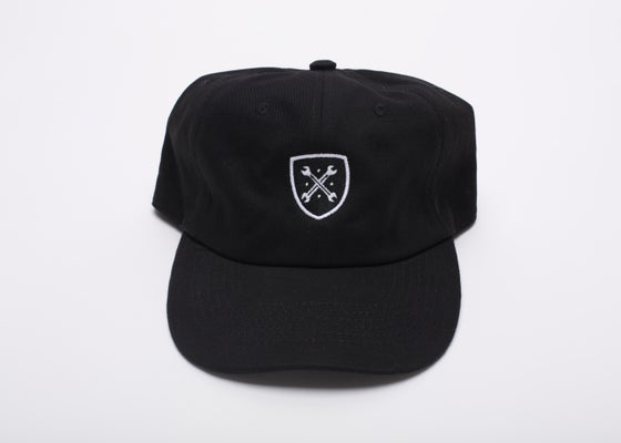 "Image of Black Logo ""Dad"" Hat"