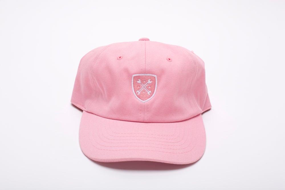"""Image of Pink Logo """"Dad"""" Hat"""