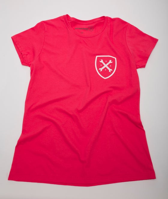 Image of Women's Pink Shield Tee