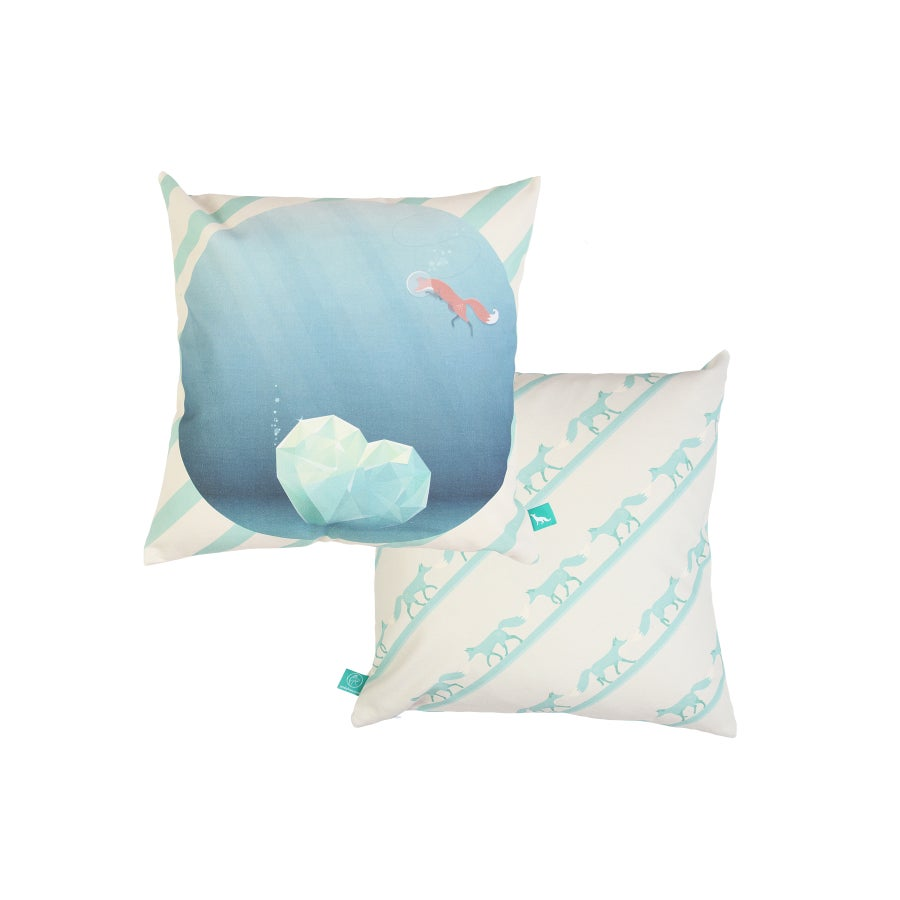 """Image of """"The Fox & The Heartwreck"""" Cushion Cover"""